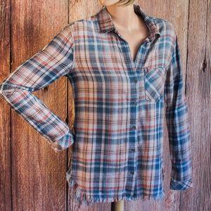Chelsea & Violet Plaid Shirt Size XS